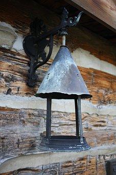 Lantern, Prairie, Pioneer, Antique, Rural, Weathered