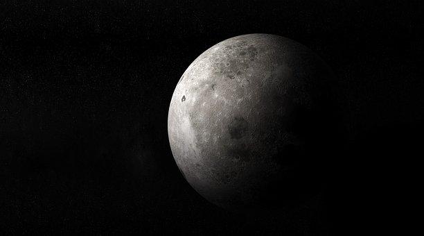 Moon, Luna, Full Moon, Moonlight, Star, Stars Fog