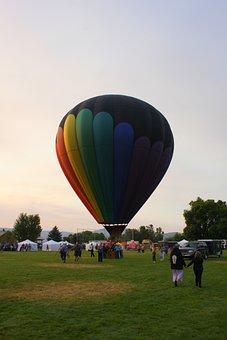 Hot Air Balloon, Balloon, Launch, Morning, Sky