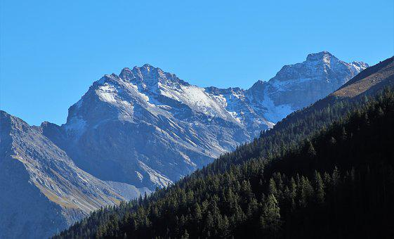 Top, Mountains, The Height Of The, Snow, Mountain