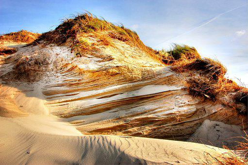 Dune, Beach, Sea, Nature, North Sea, Clouds, Sand