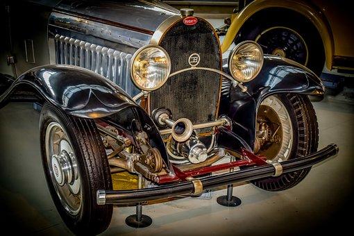 Car, Old, Oldtimer, Classic, Vintage, Bugatti, Vehicle