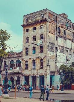 Cuba, Street, City, Vintage, Old, Colorful