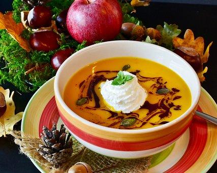 Pumpkin Soup, Soup, Hokkaido, Orange, Ginger Soup