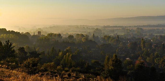 View, Landscape, Panorama, Sunrise, Morning, Fog