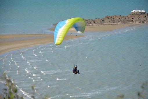 Paragliding, Paraglider, Adventure, Sport, Aircraft