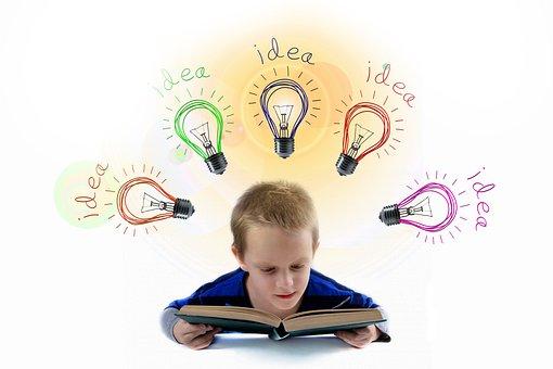 School, Students, Read, Light Bulb, Idea, Think
