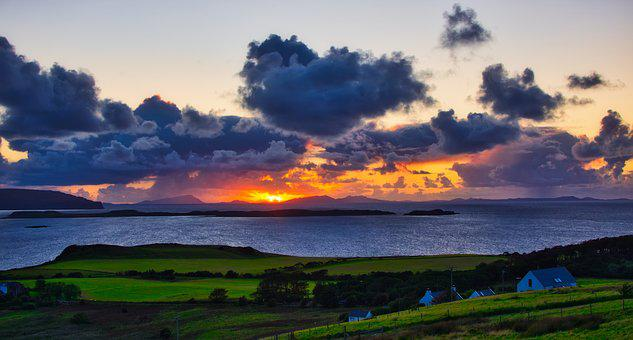 Abendstimmung, Skye, Scotland, Landscape, Sunset