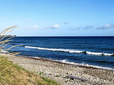 Sea, Baltic Sea, Kattegat, Denmark, Coast, Beach