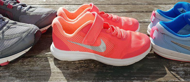 Nike, Shoes, Family, Supportive, Orange, Pink, Neon, Pe