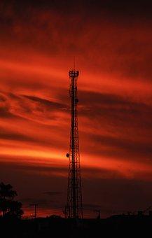 Tower, Silhouette, Architecture, Horizon, Sky