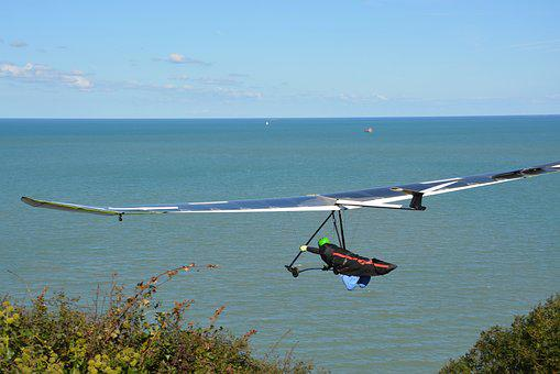 Hang Gliding, Flight, Aircraft, Sea, Speed, Sport