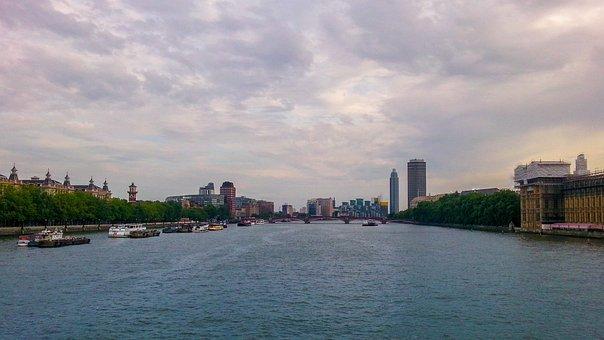 London, Thames, England, River, Uk