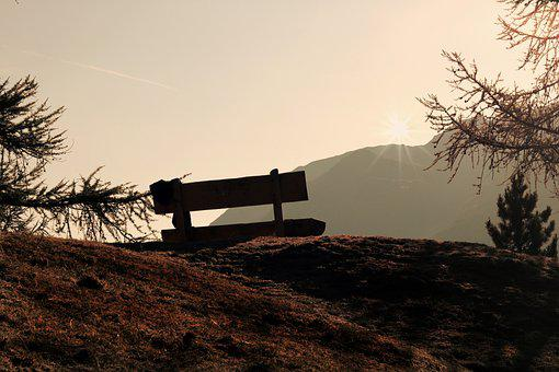Viewpoint, Bank, Wooden Bench, Mountains, Nature, View