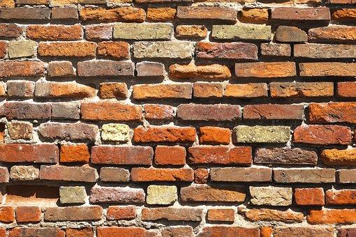 Wall, Brick, Facade, Historically, Red, Brick Red