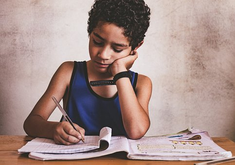 Writing, Pen, Child, Ink, Poverty, Sadness, Boredom
