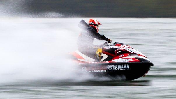 Jet Ski, Powerboat, Boat, Water, Action, Speed