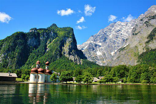 Alpine, Watzmann, Königssee, Mountains, Water