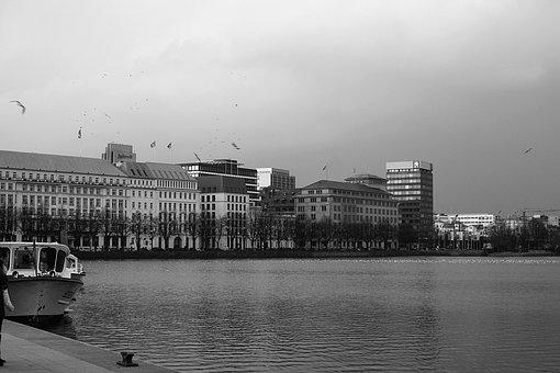 Hamburg, Hamburgensien, Alster, Jungfernstieg