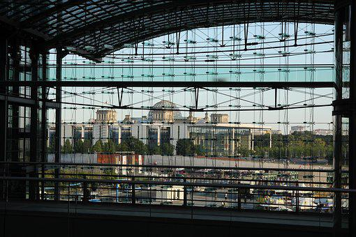 Berlin, Train Station, Architecture, Transport, Traffic