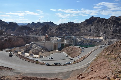 Hoover Dam, Nevada, Landscape, Arizona, Dam, Landmark