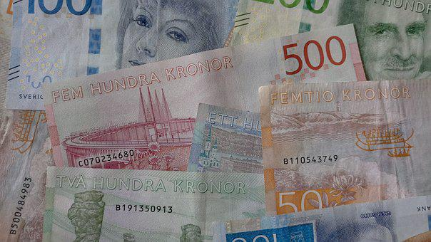Sweden, Crowns, Currency, Money, Bank Note, Cash