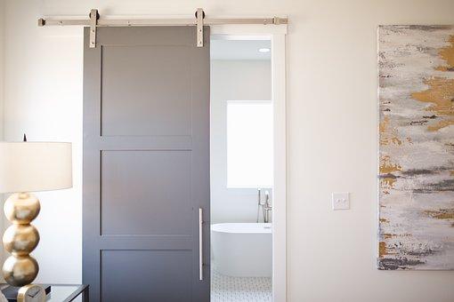 Barn Door, Sliding Door, Bedroom, Bathroom