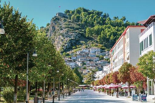 Berat, Albania, Balkan, Mangalem, Old, City, History