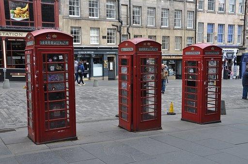 Phone Box, Edinburgh, British