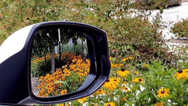 Mirror, Looking Back In Mirror, Back Mirror, Car Mirror