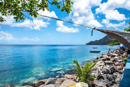 St Vincent And The Grenadines, Blue Sea, Caribbean