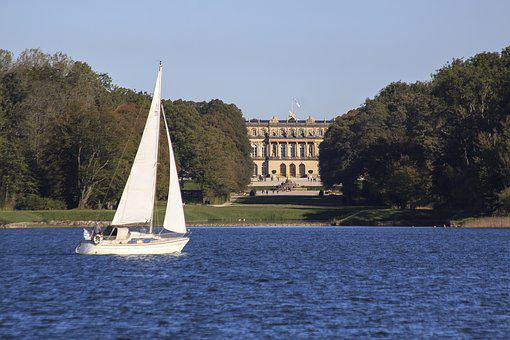 Sailing Boat, Herrenchiemsee, Castle, Chiemsee