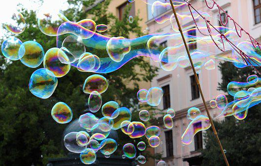 Soap Bubbles, Soap, Blow, Bubble, Fun, Play, Children