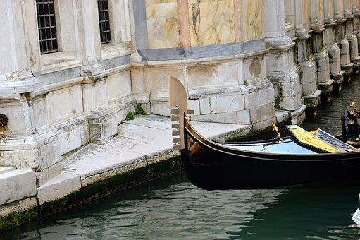Gondola, Venice, Church, Channel, Italy, Water, City