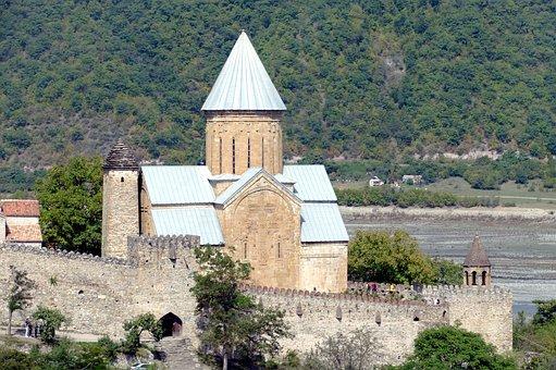 Georgia, Monastery, Church, Caucasus, Christianity