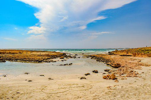 Sea, Beach, Horizon, Coast, Landscape, Sky, Clouds