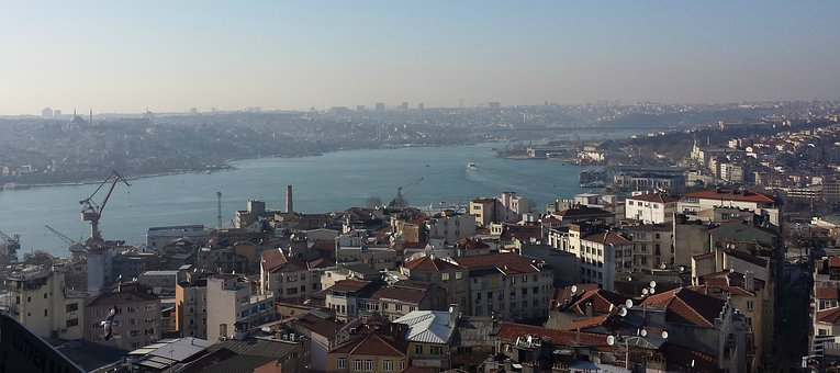 Istanbul, From Galata, Estuary