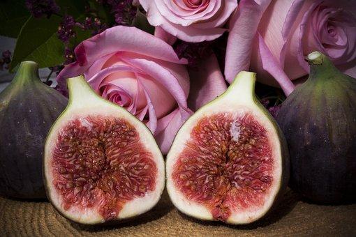 Fig, Wooden Disc, Dessert, Fruit, Healthy, Food