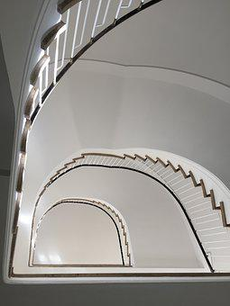 Munich, Staircase, Rise, Perspective, Stairs, Gradually
