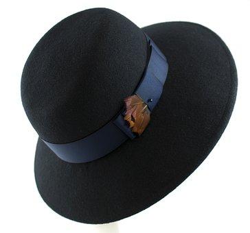 Hat Womens Filcowy, Headgear, Hat, Felt, Ornament, Pen