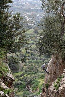 Hike, Man, Helmet, Nature, Rocks, Person, Adventure