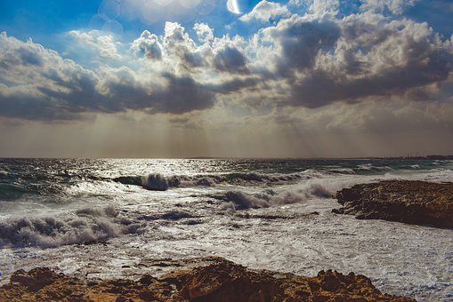 Sea, Beach, Waves, Horizon, Coast, Landscape, Afternoon
