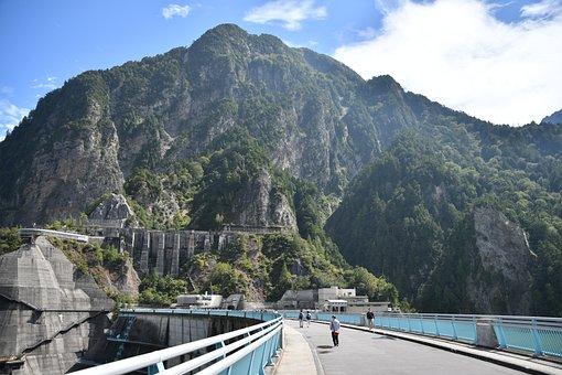 Kurobe Dam, Kurobe Wall, Lake Of Kurobe Dam
