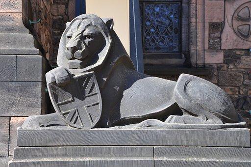Britain, Lion, Edinburgh, Statue