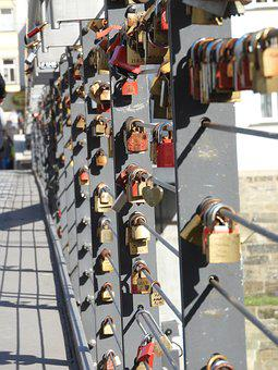 Bridge, Castle, Padlock, Love Symbol, Castles, Railing