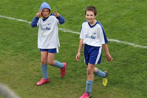 Football, Match, Pleasure, Win, Celebration, Pupils