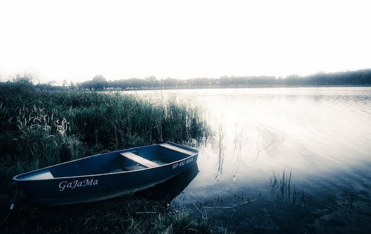 Lake, Boat, Landscape, Nature, Mood, Gloomily, Autumn