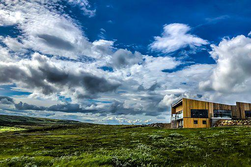 Iceland, Hdr, Nature, Landscape, Mountains, Sky, Clouds
