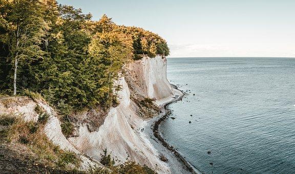 Rügen, White Cliffs, Baltic Sea, Sea, Rock, Nature