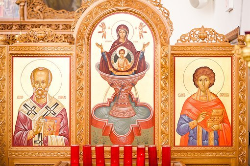 Icon, Mary, Nicholas, Saint, Panteleimon, Orthodox